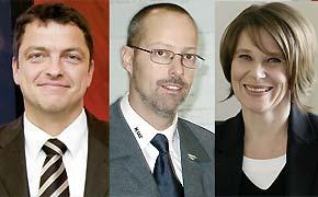 Rechtsanwalt Schmenger, Herr Firmery und Rechtsanwältin Feldmann referierten in Mainz