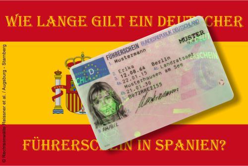 EU-Fahrerlaubnis-Recht: Anerkennung deutscher Führerscheine in Spanien